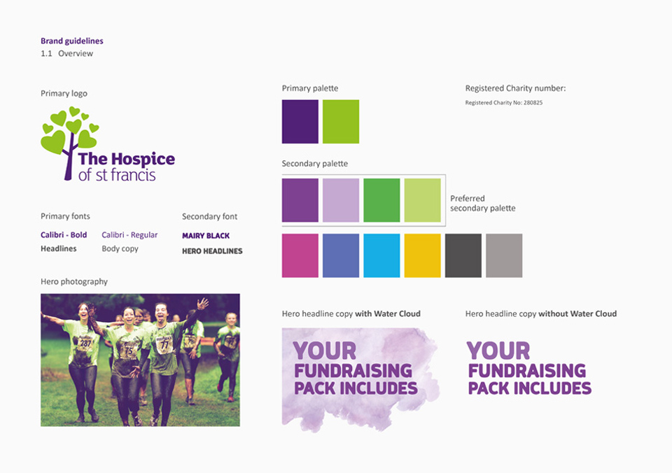Hospice of St Francis brand guidelines